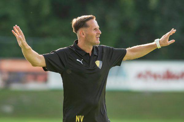 Erster Ligasieg für Nino Vrenezi als Trainer des FC Höchst.Stiplovsek