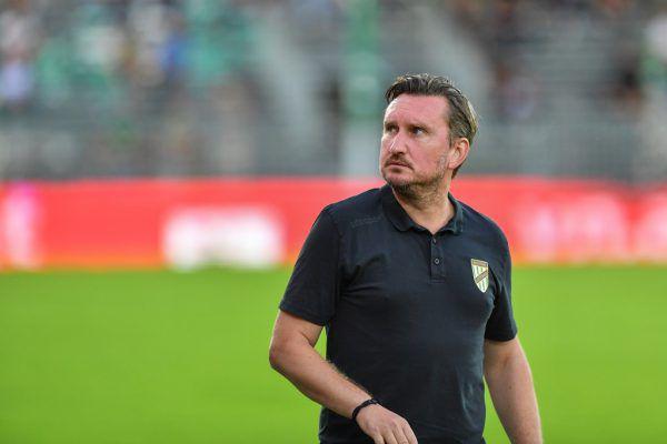 Austria-Trainer Alexander Kiene hatte wenig Grund zur Freude.gepa/lerch