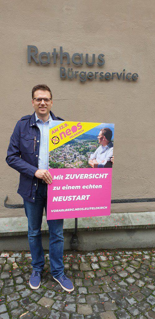 Georg Oberndorfer, Neos-Spitzenkandidat in Feldkirch.NEOS