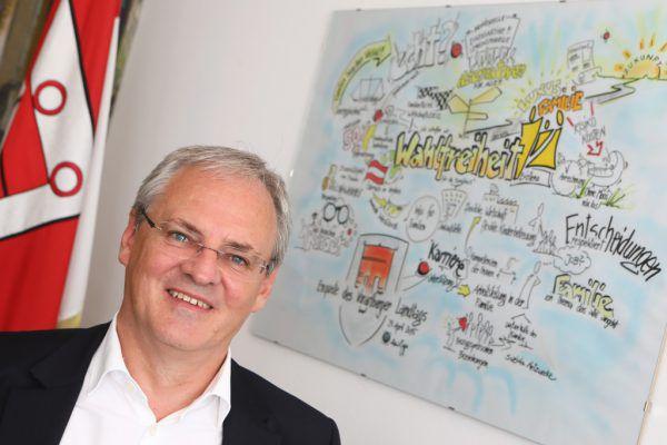Landtagspräsident Harald Sonderegger war 18 Jahre lang Bürgermeister in Schlins.Klaus Hartinger (2)