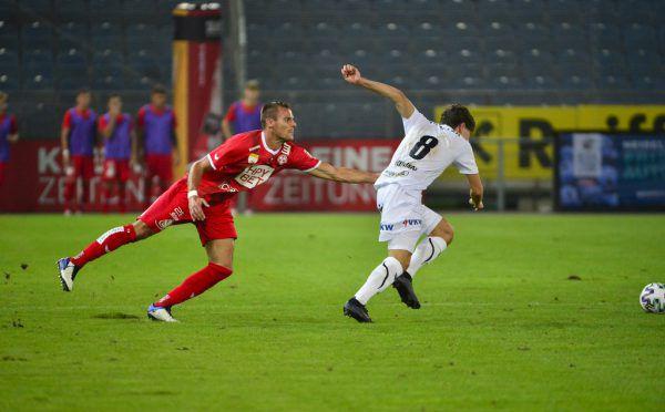 Lukas Fridrikas war für Lukas Graf nur per Foul zu stoppen.Gepa