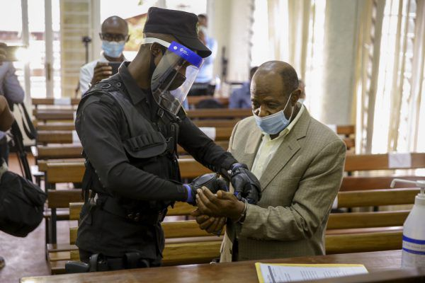 Paul Rusesabagina im Gericht. ap