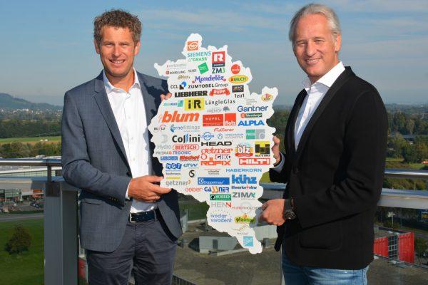 Präsident der Industriellenvereinigung Martin Ohneberg (r), und Industriespartenobmann der Wirtschaftskammer Markus Comploj.IV