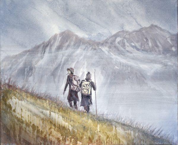 """Roland Haas: """"Auf der Flucht"""".Kunstforum Montafon"""