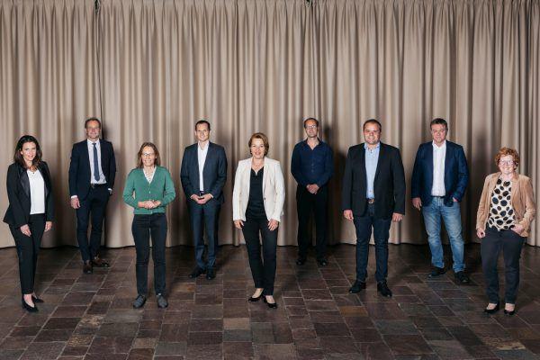 Der Dornbirner Stadtrat mit Bürgermeisterin Andrea Kaufmann in der Mitte.Lisa Mathis