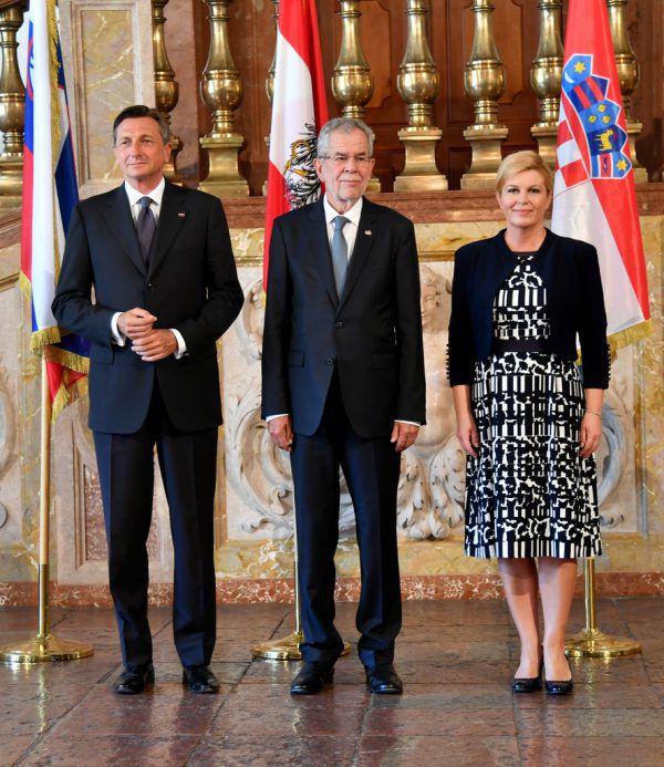 Die Präsidenten Borut Pahor und Alexander Van der Bellen hier bei einem Treffen im Juli in Salzburg. Apa/Gindl