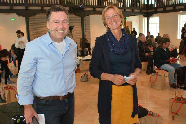 Feierten mit: Johannes Ströhle und Ulrike Längle.