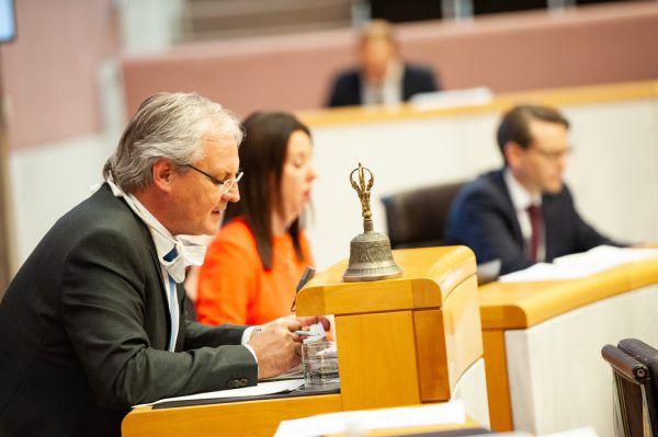 Landtagspräsident Harald Sonderegger bei der Sitzung am 7. Oktober.Alexandra Serra