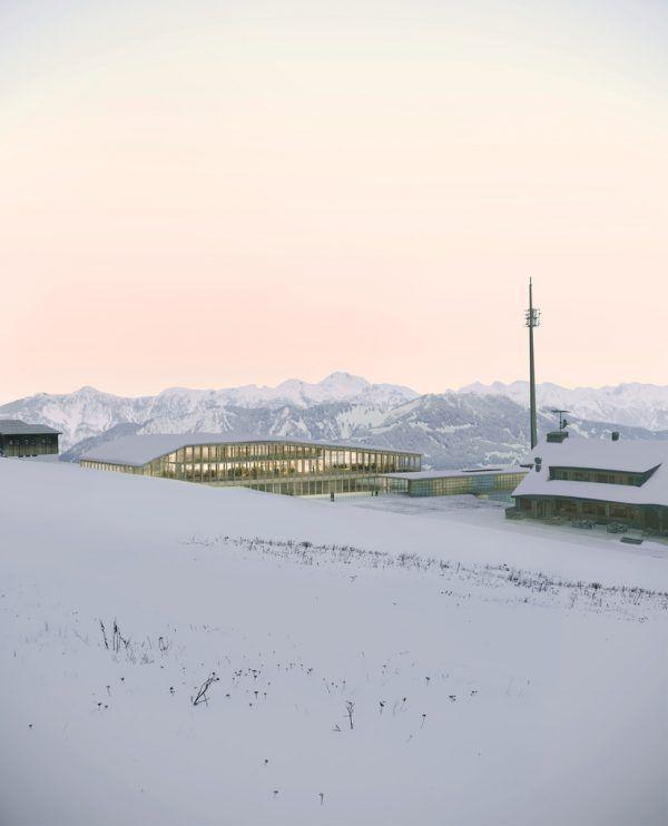 So soll das neue Bergrestaurant Grüneck am Golm aussehen.