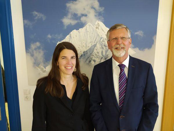 Bludenzer Gerichtsvorsteherin Silvia Hitthaler-Simma mit Vorgänger Othmar Kraft.Seff Dünser