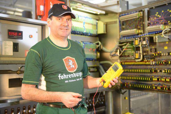 Christian Schneider von der Brauerei Fohrenburg in Bludenz.Braurerei Fohrenburg