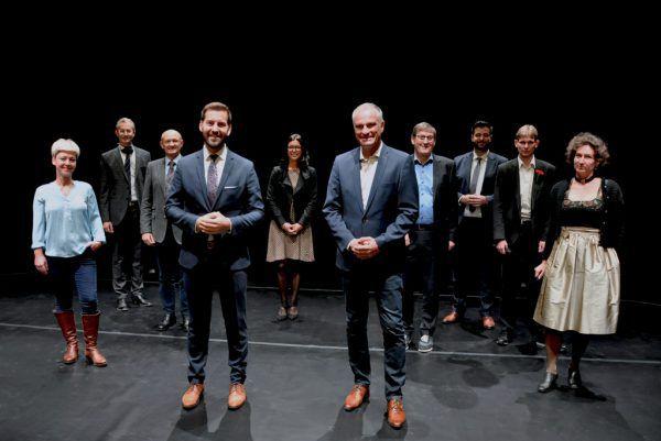 Der Bludenzer Stadtrat nach seiner Wahl 2020. Damals noch mit Mario Leiter als Vizebürgermeister.Stadt Bludenz