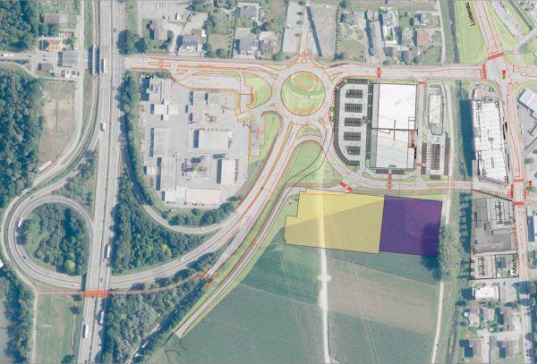 Der Plan der Erweiterung. Stadt Hohenems