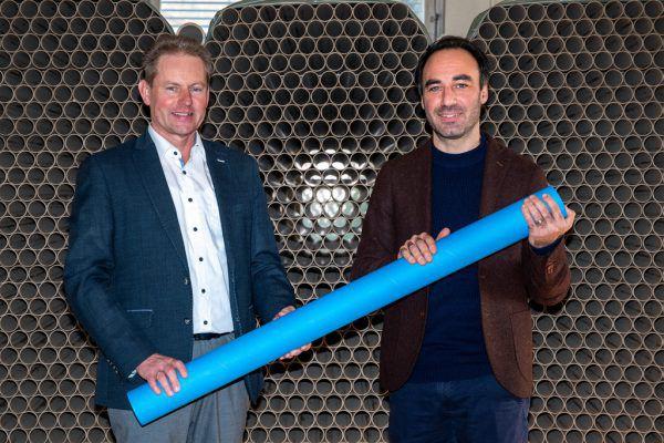 Die beiden Geschäftsführer Claudius Bereuter (l.) und Alexander Abbrederis.pratopac gmeiner gmbh
