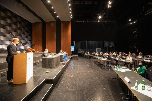 Die Stadtvertretungssitzung in Bregenz geht wieder im Festspielhaus über die Bühne. Hartinger