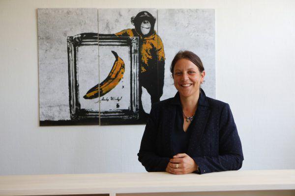 Direktorin Margit Flecker in ihrem Büro.Hartinger