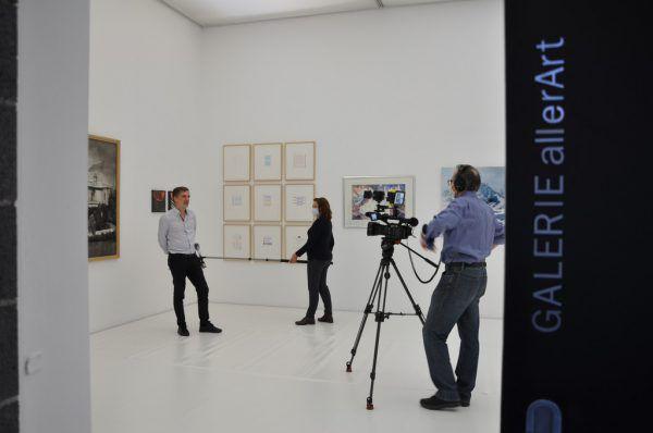 Dreharbeiten in der Galerie.  Stadt Bludenz
