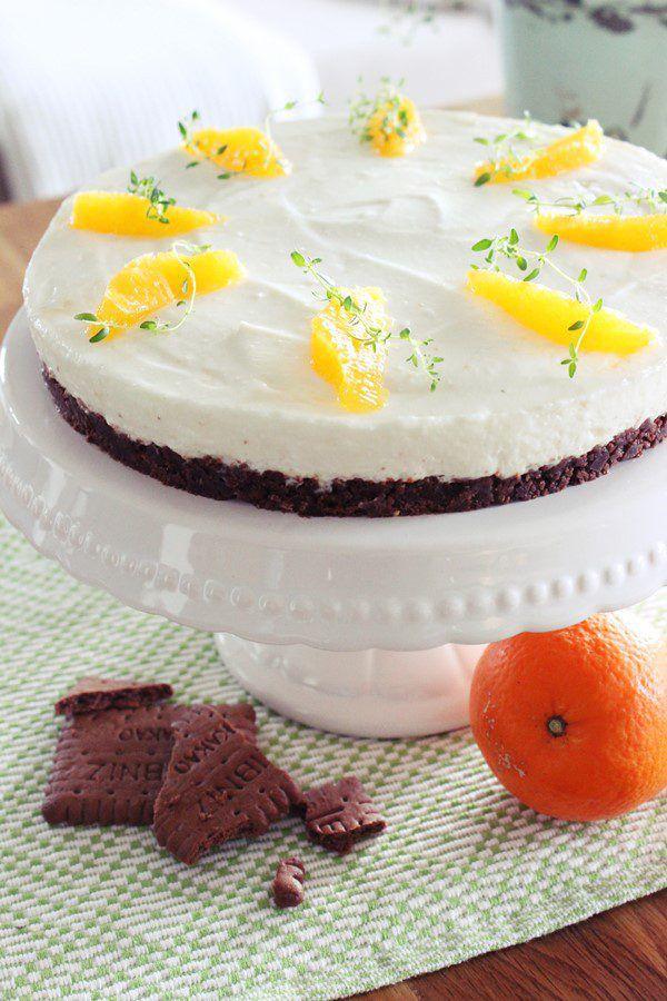 Erfrischender Kuchen mit leckerem Schokoladenboden. Jasmine Hörhager