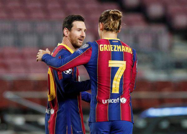 Griezmann-Manager teilte gegen Messi (l.) aus.reuters