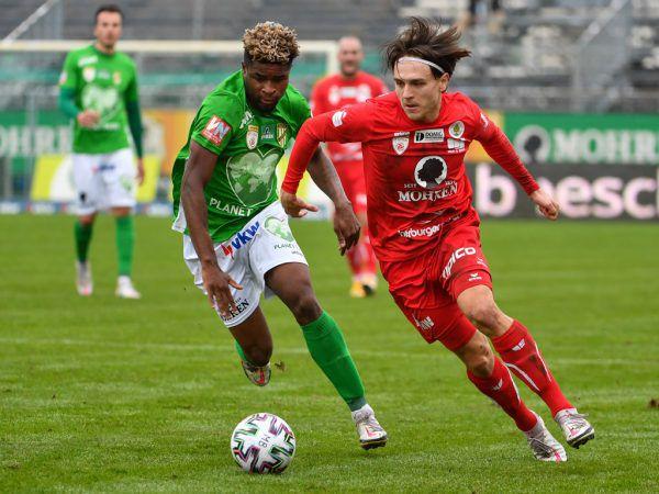 Im dritten Anlauf nach dem Aufstieg konnte der FC Dornbirn über den ersten Derby-Sieg jubeln.GEPA/Lerch