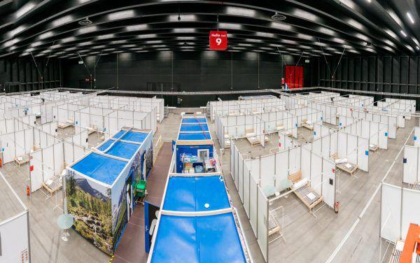 In Dornbirn stehen jetzt 200 Notbetten für eine mögliche dritte Corona-Welle bereit. Das Notversorgungszentrum kostete 800.000 Euro, der Wiederaufbau noch einmal 300.000 Euro.Stiplovsek
