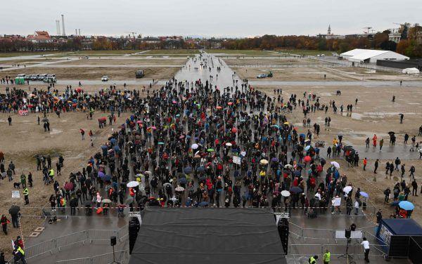 In München wurde am Sonntag demonstriert.AFP
