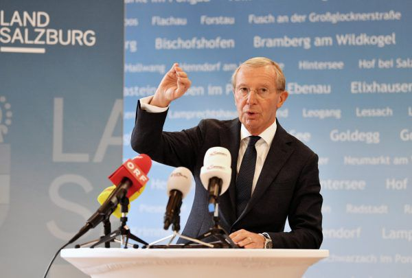 Salzburgs Landeshauptmann Wilfried Haslauer wird mit Wallner gemeinsam verhandeln. APA