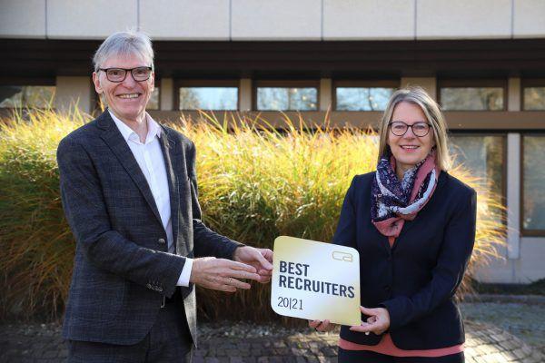 Wilfried Hopfner, Vorstandsvorsitzender, und Christa Strobl, Leiterin Personalmanagement.Raiffeisenlandesbank Vorarlberg