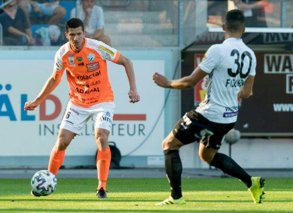 Andreas Lienhart (l.) blickt auf 317 Pflichtspieleinsätze im Altacher Dress zurück. Seit Sommer 2019 trägt der Steirer das Trikot des TSV Hartberg.STIPLOVSEK