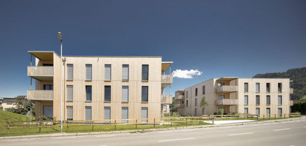 Auch in Kleingemeinden wird vermehrt gemeinnützig gebaut. Im Bild: Vogewosi-Wohnanlage in St. Gerold. Vogewosi