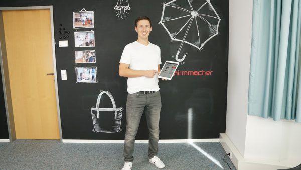 Christian Ströhle hat sich mit dem Start-up 2019 selbstständig gemacht.Schirmmacher