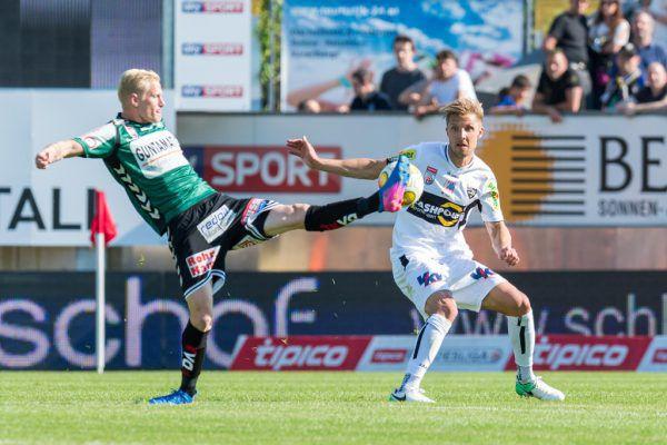 Das letzte direkte Duell der beiden Teams datiert vom 25. Mai 2017. Philipp Netzer (r.) war damals schon im Dress der Altacher im Einsatz.stiplovsek
