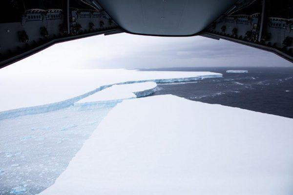Der Eisberg wird seit 2017 auch mit Satelliten beobachtet.AFP/UK MOD/CROWN COPYRIGHT 2019/CORPORAL PHIL DYE