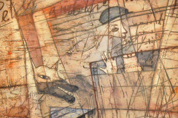 """Im großen Bild die Hommage von Anna Lentsch an """"Peter und der Wolf"""", im kleinen Bild ein Werk von Julio Balaguer.Wolfgang Ölz (2)"""
