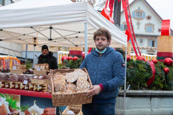 Kalt ist es, und die Südtiroler Brotspezialitäten werden kaum nachgefragt.Hartinger