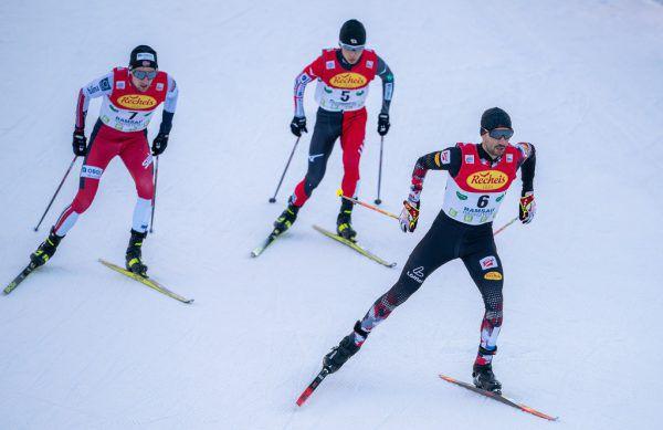 Lukas Greiderer (r.) hatte Grund zur Freude. Der Tiroler lief in der Ramsau auf Platz drei.apa