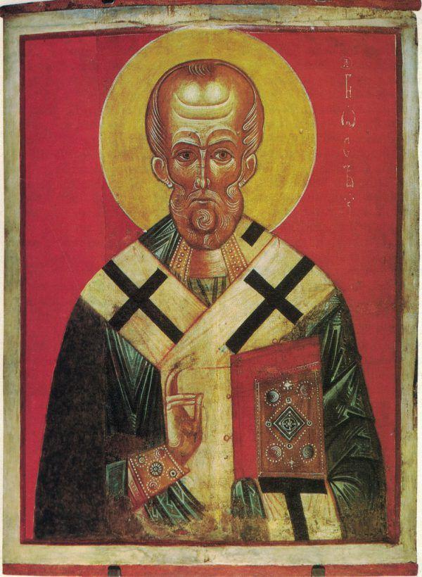 Nikolaus-Ikone aus Nowgorod, um 1300. Willibald Feinig