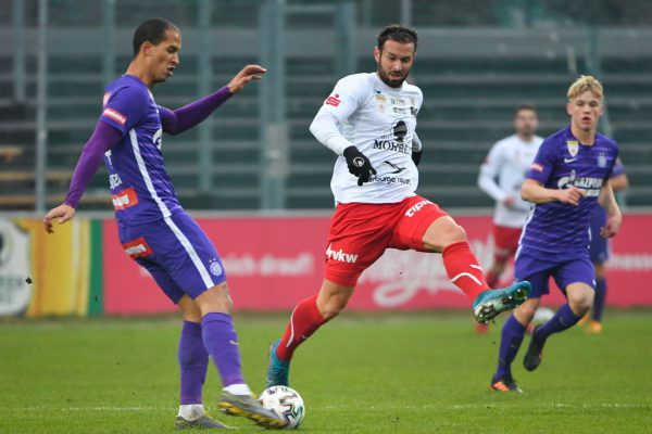 Nullnummer für den FC Dornbirn zu Hause gegen die Young Violets.GEPA/Lerch
