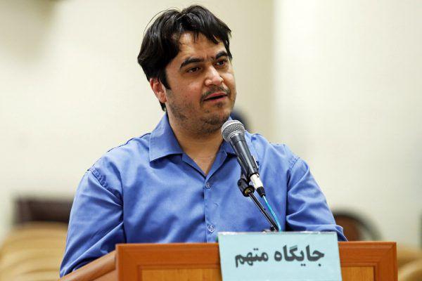 Ruhollah Sam im Juni bei seinem Prozess. AP/Ali Shirband