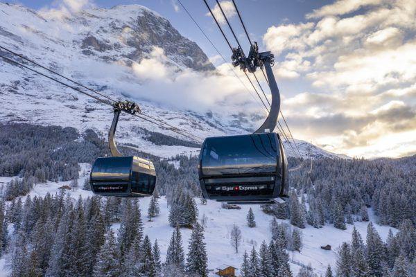 V-Bahn der Jungfraubahnen kurz vor der Eröffnung im November 2020. David Birri