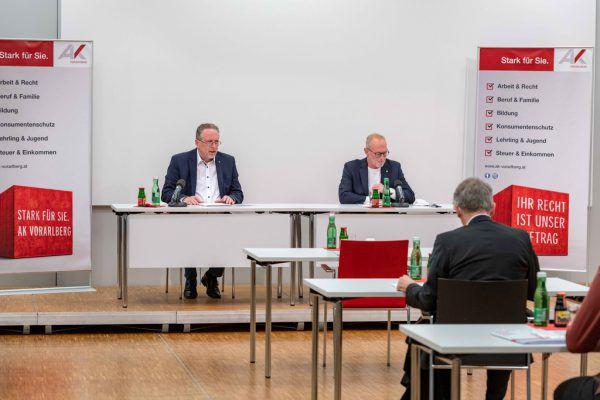 AK-Präsident Hubert Hämmerle und Direktor Rainer Keckeis. AK Vorarlberg