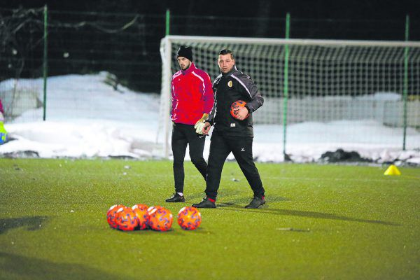Andreas Morscher und Lucas Bundschuh beim Training. Klaus Hartinger (2)