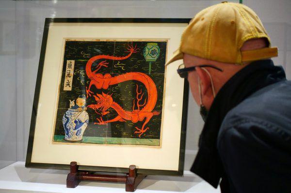 Das Bild des belgischen Zeichners Georges Remi alias Hergé. Reuters