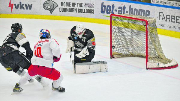 Der Shorthander von Justin Schütz in der 56. Minute brachte Salzburg den Sieg.GEPA/Lerch