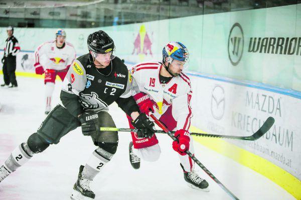 Die Bulldogs müssen heute konsequent gegen die Scheibe arbeiten und die Salzburger unter Druck setzen. GEPA