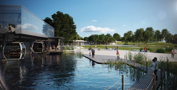 Die geplante Wasserstation der Seilbahn.Doppelmayr Seilbahnen GmbH