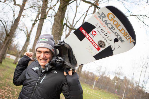 Ein Bild, das vor dem Wintereinbruch im Tal entstanden ist, dessen Aussagekraft aber aktueller denn je ist: Luca Hämmerle ist bereit, seinen Weg zu gehen.Hartinger (2)
