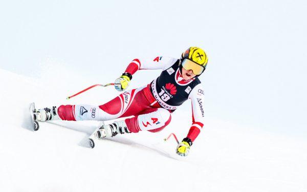 Ein fünfter Rang in Val d'Isere war in dieser Saison das beste Ergebnis von Nina Ortlieb.gepa