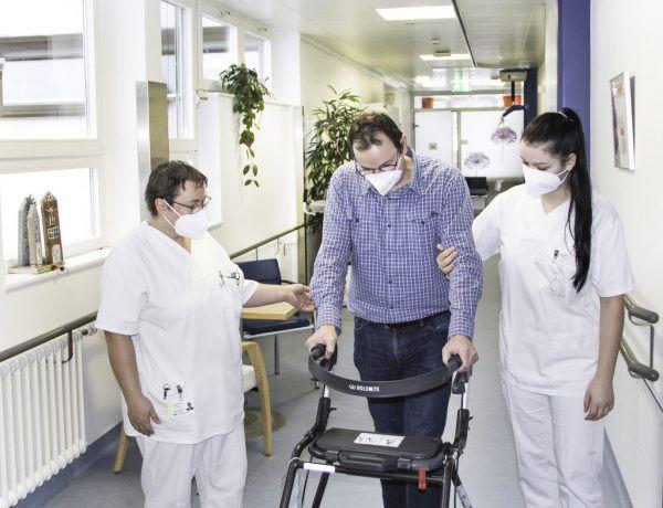 Gerade in der Reha verbringen die Patienten viel Zeit im Krankenhaus.KHBG/Mathis