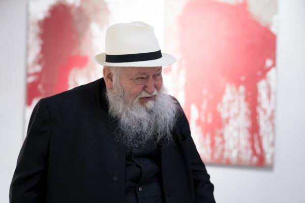 Hermann Nitsch war im Sommer 2017 in der Kunsthalle arlberg1800 zu Gast.Philipp Schuster Photography